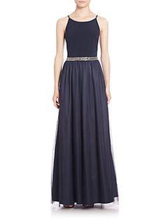 Aidan Mattox Bridesmaids - Embellished Combo Gown