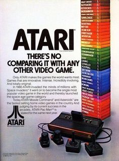 Atari, There's No Comparing It With Any Other Video Game. #atari #atari2600 #Retrogaming #VintageAdvertising