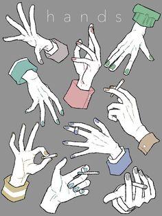 ただ手と爪が描きたかっただけ。あと差分も。pic.twitter.com/PhUM7wA4Pk Hand Drawing Reference, Art Reference Poses, Anatomy Reference, Anatomy Drawing, Manga Drawing, Drawing Sketches, Drawing Tips, Poses References, Digital Art Tutorial