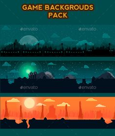 Game Backgrouds Pack — Photoshop PSD #city #gaming • Download here → https://graphicriver.net/item/game-backgrouds-pack/9185433?ref=pxcr