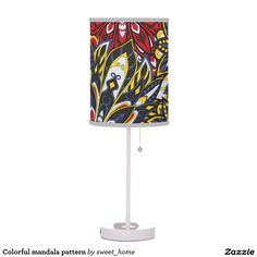 Colorful mandala pattern desk lamp  #Home #decor #Room #Interior #decorating #Idea #Styles #Traditional #Boho #Indian #Vintage #floral #motif