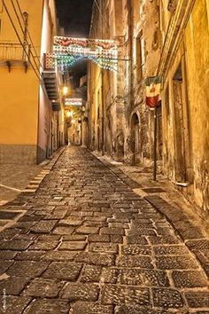 Centre of Patti ( Sicily-province of Messine)by night