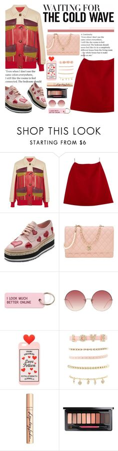 """""""Untitled #2224"""" by anarita11 ❤ liked on Polyvore featuring Prada, Max&Co., Chanel, Various Projects, Linda Farrow, Charlotte Russe and Charlotte Tilbury"""