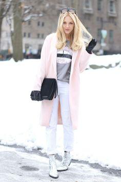 Soft pink coat PLS