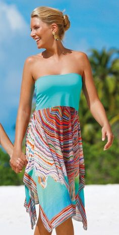 Sunflair 2014 Colored Oyster Skirt #beach #skirt #sunflair #color southbeachswimsuits.com