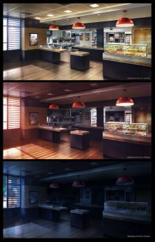 MacDonald by giaonp on DeviantArt Episode Backgrounds, Anime Backgrounds Wallpapers, Anime Scenery Wallpaper, Pastel Wallpaper, Wallpaper Iphone Cute, Scenery Background, Cartoon Background, Night Background, Background Pictures