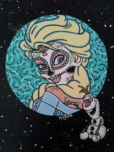 Sugar Skull Princess Elsa ©Kitty OGane (My Art)