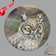CREATIVE NECKLACE HAND PAINTED OWL SHELL PENDANT ZP30 01027 #ZL #PENDANT