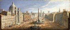 Hendrik Frans van Lint -  A view of the Piazza Navona, Rome.