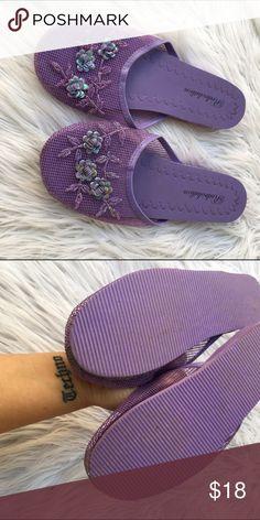 PURPLE FLORAL MESH SANDALS SHOES SZ 7 Awesome sandals Shoes