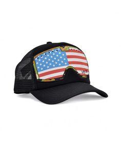 26771bfb6e2 Original G.Line Mesh Snapback Trucker Hat- Goggle Black American Flag  CP12E6U5NS5