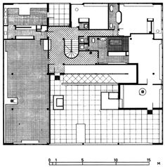 villa savoie floor plan le corbusier g l pinterest. Black Bedroom Furniture Sets. Home Design Ideas