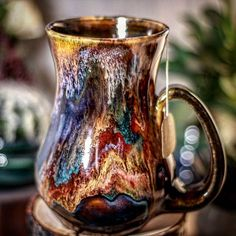 Glazes For Pottery, Pottery Mugs, Ceramic Pottery, Key West Decor, Ceramic Coffee Cups, Coffee Mugs, Aesthetic Japan, Pottery Techniques, Coffee And Books