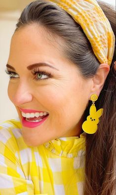 Letter Earrings, Dangle Earrings, Trademark Logo, Calendar Girls, Hairspray, Pink Blue, Yellow, Cleaning Wipes, Product Launch