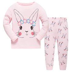 Girl's Rabbit Pajamas Cotton Sleepwear Kids PJS 2 Piece Clothes Set Size – Pink – Girl's Rabbit Pajamas Cotton Sleepwear Kids PJS 2 Piece Clothes Set Size – Pink – – Girls' Clothing, Sleepwear & Robes, Pajama Sets # Pajamas For Teens, Cute Pajamas, Cute Sleepwear, Cotton Sleepwear, Cotton Pyjamas, Outfits Niños, Kids Outfits, Womens Pyjama Sets, Joko