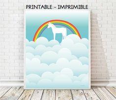 lamina unicornio, unicornio infantil, laminas infantiles, laminas animales, animales infantiles, laminas A3, laminas A4, ilustracion digital