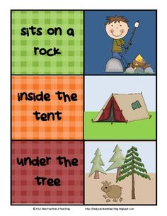 Sight Word Phrases With Matching Pictures--Camping Themed-$