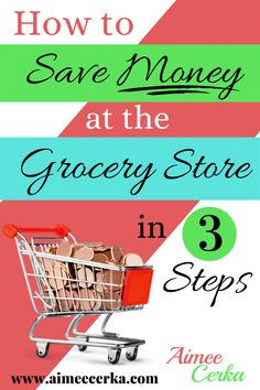 Learn to save money at the grocery store in this post full of money saving ideas, budgeting tips, money tips, and money saving tips! Get your finance and frugal living in order with grocery ideas, cheap groceries grocery list tips! Start budgeting money and increasing your savings. Get meal planning, meal plans and grocery lists tips here! Budget meal planning is good for wealth management so learn how to make grocery lists on a budget and get money saving tips!  #aimeecerkawealthmanagementcoach Save Money On Groceries, Ways To Save Money, How To Get Money, Money Tips, Money Saving Tips, Wealth Management, Money Management, Grocery Lists, Grocery Store