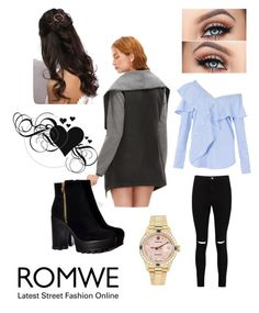 """""""Untitled #32"""" by razaibrahimovic ❤ liked on Polyvore featuring Boohoo, FAIR+true, Rolex and Rare London"""