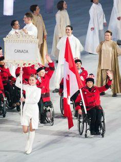 #Sochi - Sonja Gaudet, #Canadian flag bearer.