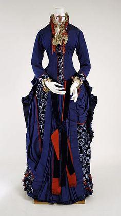 Dress, 1880-1885, by Darlington, Runk & Co., American, silk, The Metropolitan Museum of Art.