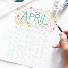 It's that time of the month again for our freeeeeeeee monthly calendar printable! You can download this by following the instructions on our blog (link in profile). Happy April!!