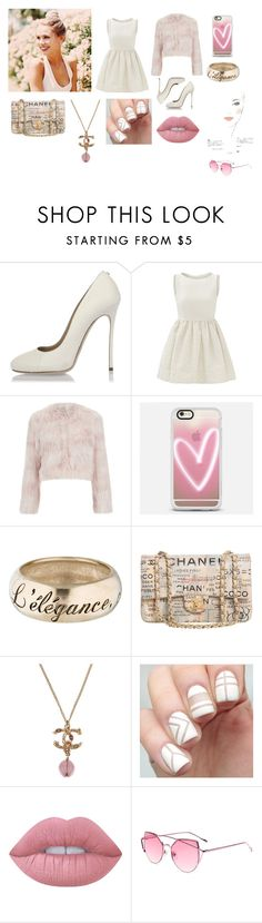 """Chanel"" by samanthadanetti on Polyvore featuring moda, Dsquared2, RED Valentino, Casetify, Chanel y Lime Crime"
