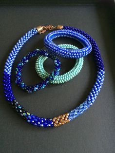 crochet with seed beads