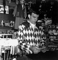 Steve Martin working in the Fantasyland magic shop.