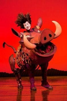 Pumbaa. Musical the Lion King |