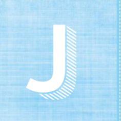 5-luik geboortekaartje blauwe stof