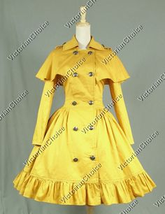 Victorian Gothic Lolita Cape Coat Dress Reenactment Steampunk Cosplay