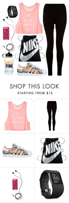 """Untitld#1449"" by mihai-theodora ❤ liked on Polyvore featuring Victoria's Secret, adidas, NIKE, Victoria's Secret PINK and Fitbit"