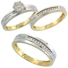 Argollas de Matrimonio Triples