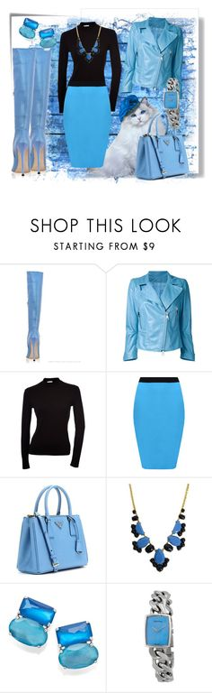 """""""Untitled #4234"""" by anyower ❤ liked on Polyvore featuring Post-It, Sylvie Schimmel, WearAll, Prada, Kate Spade, Ippolita and Calvin Klein"""