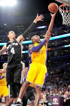 f6e21faf72f3 Lakers  Kobe Bryant scores ahead of the San Antonio Spurs  Danny Green  Lakers Game