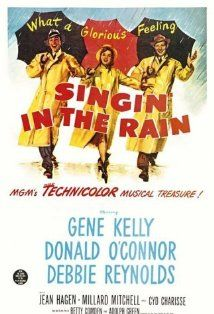 Singing in the Rain Directed by Stanley Donen, Gene Kelly. With Gene Kelly, Donald O'Connor, Debbie Reynolds, Jean Hagen. A silent film production company and cast make a difficult transition to sound. Gene Kelly, The Rain Movie, Love Movie, I Movie, Happy Movie, Happy Song, Movie Blog, Movie Stars, Classic Movie Posters