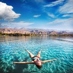 Issyk Kul lake at mountains background in Kyrgyzstan, central Asia
