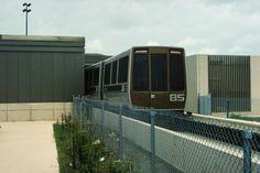 DFW 2 vehicles entering terminal #podcar #retrotransportation  #advancedtransit