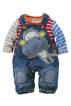 Newborn Pants - Baby Pants and Infantwear - Next Monkey Dungarees And Bodysuit