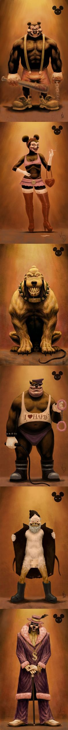 Evil original Disney characters. But where is Daisy?