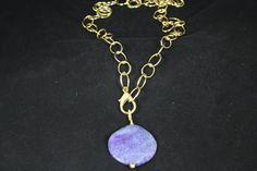 Ejemplo de ágata con cadena, visita nuestra web www.greenlily.es