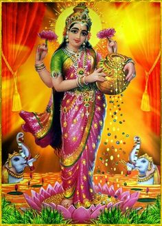 Lakshmi is the Hindu god of wealth, fortune & prosperity and also the wife of Lord Vishnu. Here is a collection of Goddess Lakshmi Images & HD wallpapers. Lakshmi Photos, Lakshmi Images, Indian Goddess, Goddess Lakshmi, Om Namah Shivaya, Lord Vishnu Wallpapers, Lord Murugan, Hindu Deities, God Pictures