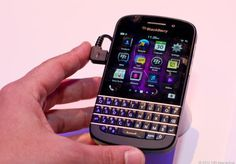 BlackBerry Q10 via @CNET