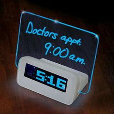Cool stuff  Clock is information showing your appointments in the morning