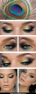 Cool Peacock Eye shade idea is very simple & easy to wear.Try this Cool EYE MAKEUP to look stunning. This type of Makeup can be used in every occasion & every time. More @ http://girlypictorials.com