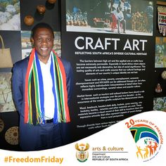Arts and Culture Minister Paul Mashatile proudly showing off his South Africanness! #FreedomFriday