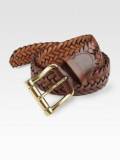 Ralph Lauren - Braided Leather Belt - Saks.com