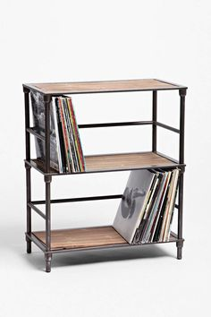 7 Or 12 Inch Of Attractive Appearance Cy Craft Vinyl Record Storage Holder Stacks Up To 50 Albums