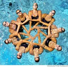 pattern 1 Mermaid School, 2004 Olympics, Synchronized Swimming, Ea Sports, Swim Caps, Figurative, Gymnastics, Ballet, Deep